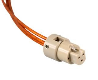 UHV Connector - 3C - Female with Strain Relief, PEEK Circular