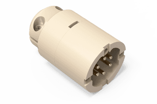 UHV Connector - 6C - Male with Strain Relief, PEEK Circular