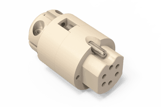 UHV Connector - 6C - Female with Strain Relief, PEEK Circular
