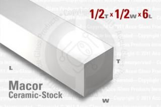 Macor Bar - 1/2x1/2, 6