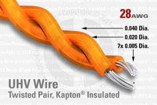 28 AWG - Twisted Pair Cable - Kapton Insulated