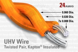 24 AWG - Twisted Pair Cable - Kapton Insulated
