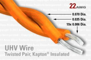 22 AWG - Twisted Pair Cable - Kapton Insulated