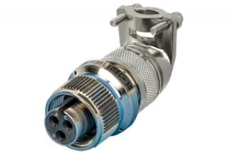 Air Service Connector - 3C - Female w/90° Strain Relief, Circular