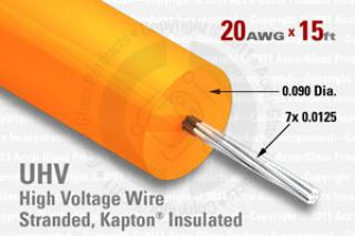20 AWG, Stranded Kapton Insulated High Voltage Wire