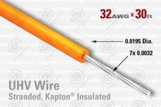 32 AWG - Stranded Core Wire - Kapton Insulated
