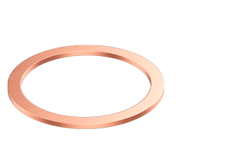 "Copper Gaskets for 3.38"" CF flange"