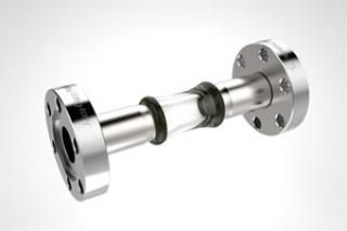 0.50 Diameter, Open Glass Tube / Dual 1.33 CF Flange / Magnetic