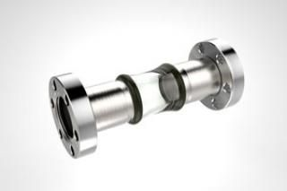 0.75 Diameter, Open Glass Tube / Dual 1.33 CF Flange / Magnetic
