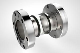 1.50 Diameter, Open Glass Tube / Dual 2.75 CF Flange / Non-Magnetic
