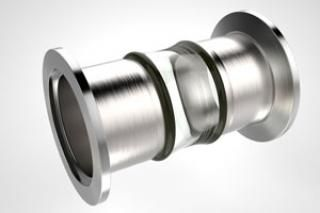 1.50 Diameter, Open Glass Tube / Dual ISO NW40 KF Flange / Magnetic