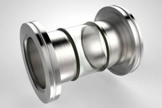 2.50 Diameter, Open Glass Tube / Dual ISO NW63 LF Flange / Magnetic