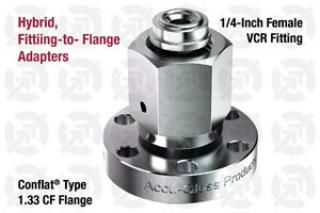 0.25 VCR Female, 1.33 CF Flange Adapter