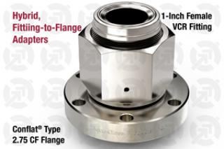 1.00 VCR Female, 2.75 CF Flange Adapter