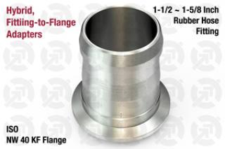 1.50~1.63 Rubber Hose, NW40 KF ISO Flange Adapter