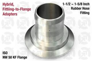 1.50~1.63 Rubber Hose, NW50 KF ISO Flange Adapter