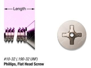 "1/2"" SS, #10-32 Vented Phillips Flat Head Screw"