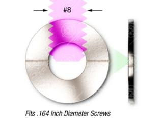 #8 (.164) SS, Vented - Flat Washer