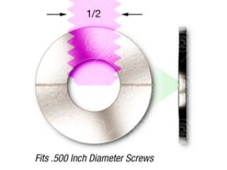 1/2 (.500) SS, Vented - Flat Washer