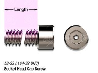 "3/8"" SS, #8-32 Vented Socket Head Cap Screw"