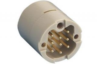 Male 9 Pin, Circular UHV PEEK Connector, Sub-C