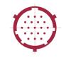 19 Pin Circular feedthrough drawing