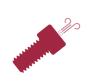 Vented Screws / Fasteners - Ultrahigh (UHV) High In-Vacuum (HV), drawing